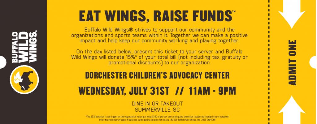 Buffalo Wild Wings Fundraiser for DCAC @ Buffalo Wild Wings